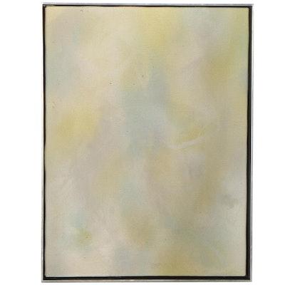 "R.C. Jones Oil Painting ""Study in Color,"" 1981"