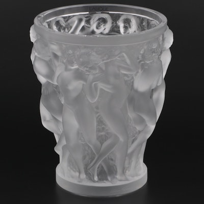 """Lalique """"Bacchantes"""" Frosted Crystal Vase"""