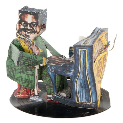 """Three-Dimensional Offset Lithograph After Red Grooms """"Fats Domino,"""" 1987"""