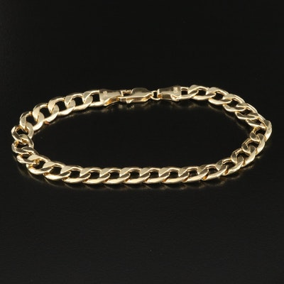 10K Curb Chain Bracelet
