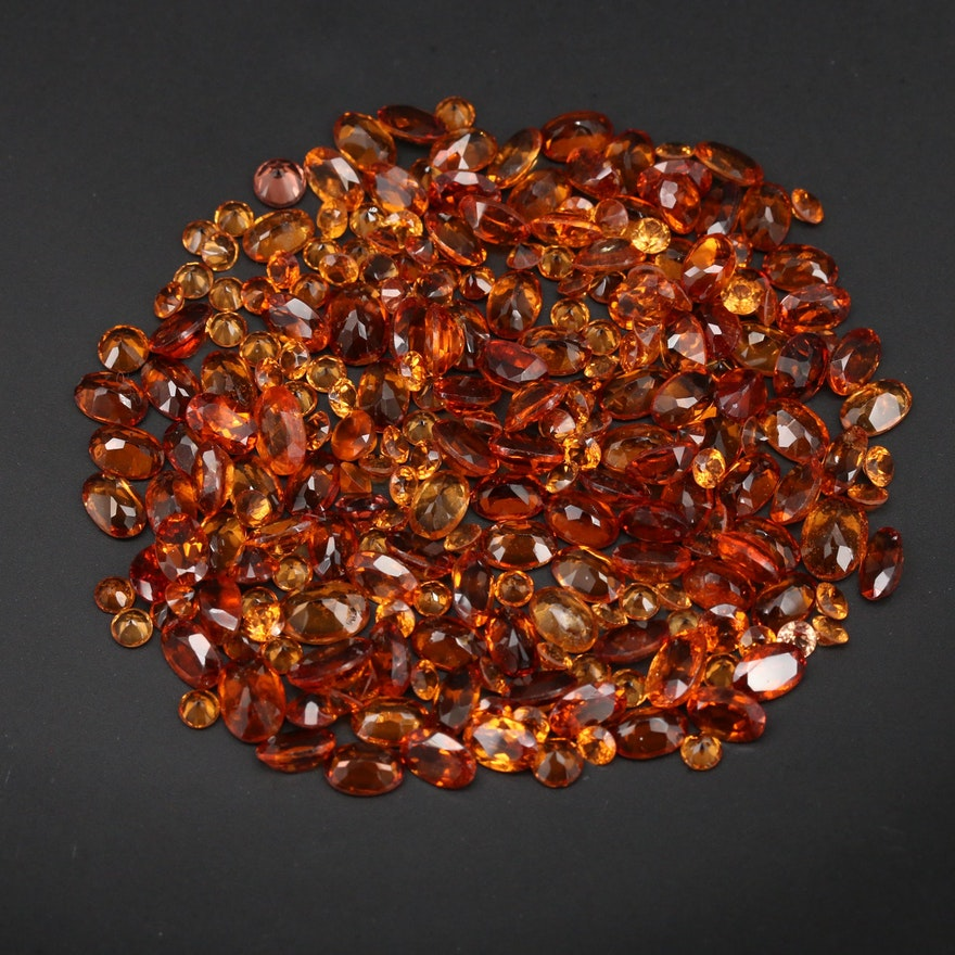 Loose 85.86 CTW Oval and Round Faceted Garnets