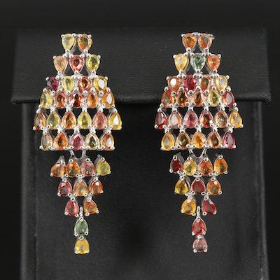 Sterling Sapphire Earrings
