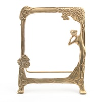 Art Nouveau Style Gilt Metal Picture Frame, Late 20th Century