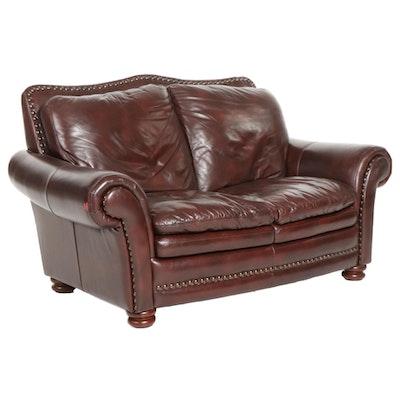 American Signature Leather Loveseat