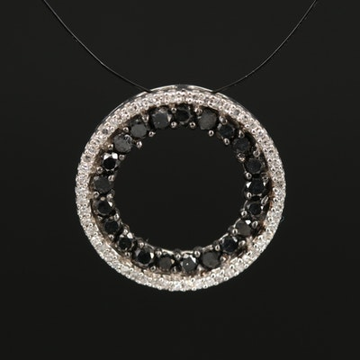 10K Diamond Circular Pendant