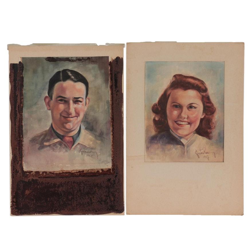 Mixed Media Portraits, 1947