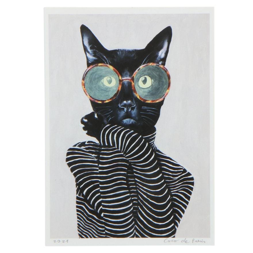 """Coco de Paris Giclée """"Fashion Cat 01,"""" 2021"""