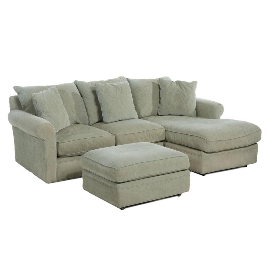 McCready Modern Upholstered Sectional Sofa and Ottoman