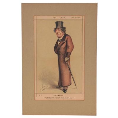 "Ape Chromolithograph for Vanity Fair ""Statesmen No.1,"" 1869"