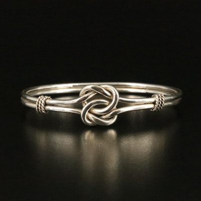 Sterling Double Love Knot Bangle