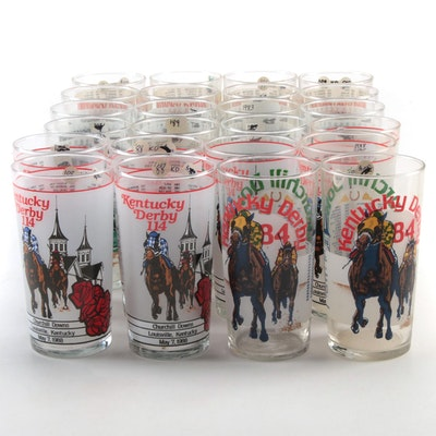 Kentucky Derby Julep Glasses, 1983, 1984, 1988 and 1989