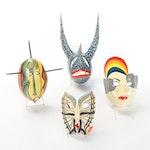 Puerto Rican Folk Art Masks, Circa 2000