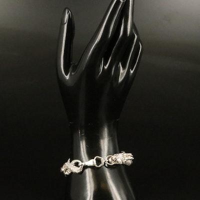 Sterling Dragon Link Bracelet