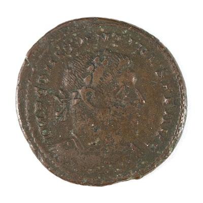 Ancient Roman Imperial AE Follis Coin of Constantine I, ca. 330 AD