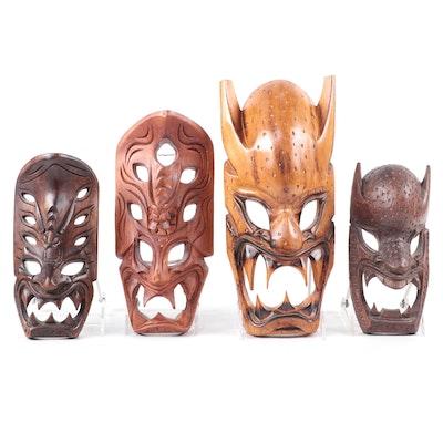 Filipino Hand-Carved Wood Masks