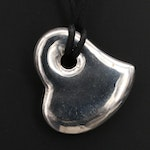 Sterling Puffed Heart Necklace