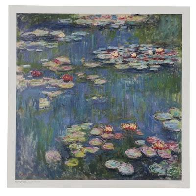 "Offset Lithograph After Claude Monet ""Nymphéas,"" 21st Century"