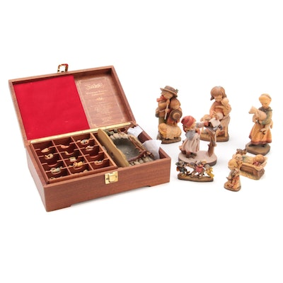 ANRI Wooden Figurines Including Nativity Collection Pieces