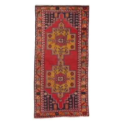 4'7 x 9'5 Hand-Knotted Turkish Village Rug, 1930s