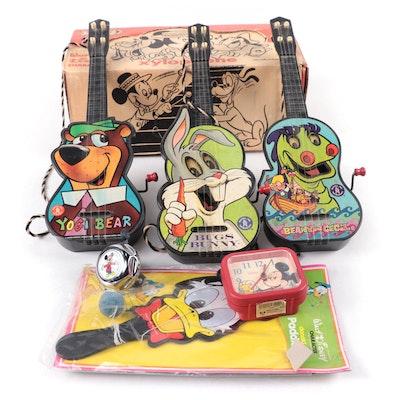 "Mattel ""Beany and Cecil"", ""Yogi Bear"" and ""Bugs Bunny"" Guitars and Disney Toys"