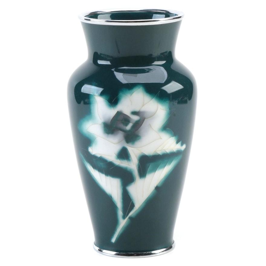 Ando Jubei Japanese Cloisonné Vase, Mid-20th Century
