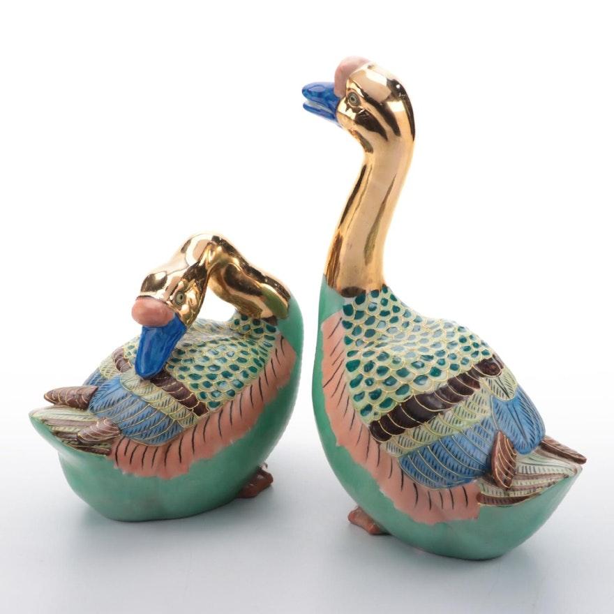 Andrea by Sadek Porcelain Geese Figurines