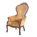 Kimball Furniture Reproductions Victorian Style Channel-Tufted Armchair