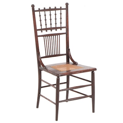 Aesthetic Movement Walnut Side Chair, Late 19th Century