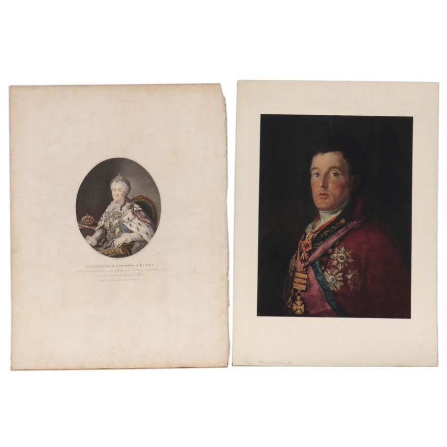 Engraving and Collotype of Royals
