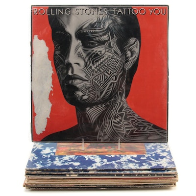 """Rolling Stones """"Tattoo You"""", """"Some Girls"""", """"Flowers"""", Other Vinyl LP Records"""