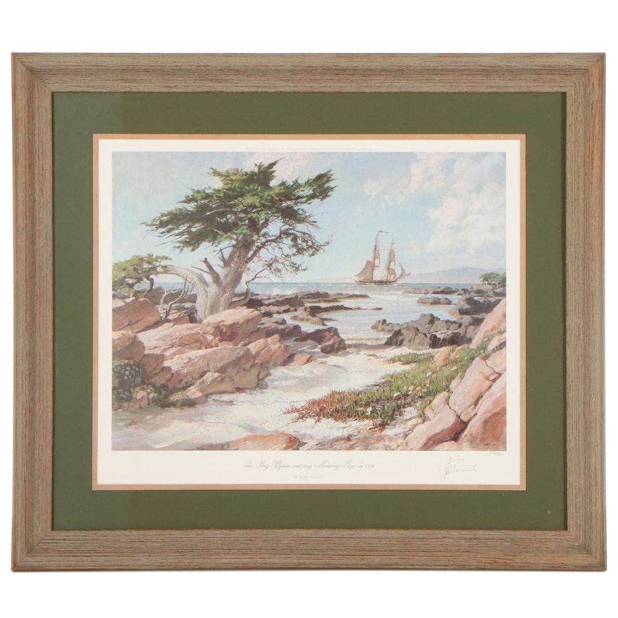 John Stobart Offset Lithograph of Coastal Landscape, Late 20th Century