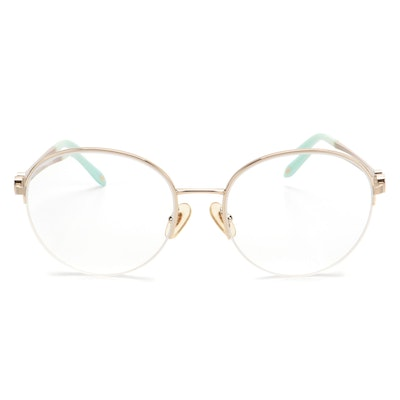 Tiffany & Co. TF3053 Semi-Rimless Round Wire Frame Eyeglasses with Case