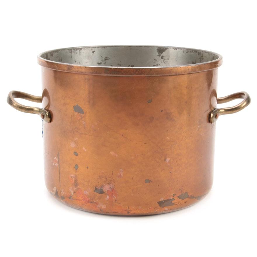 B&M Durro Copper Clad Stockpot, Late 20th Century