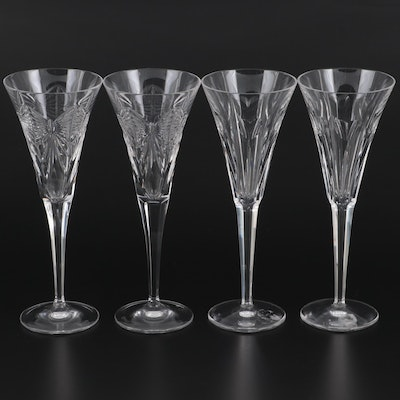 """Waterford """"Millennium Series"""" Prosperity and Love Crystal Champagne Flutes"""