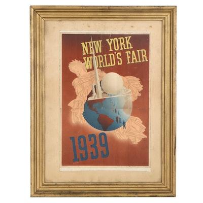 "John Atherton Lithograph Poster ""New York World's Fair 1939"""