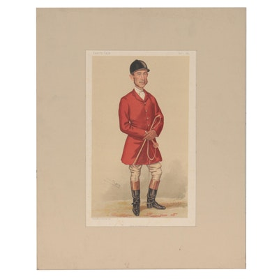 "Spy Chromolithograph ""The Huntsman"" for ""Vanity Fair,"" 1884"