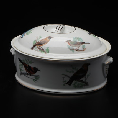 Louis Lourioux Porcelain Lidded Casserole Dish