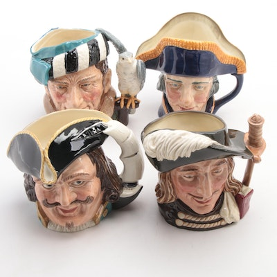 """Royal Doulton """"Lord Nelson,"""" """"Capt. Henry Morgan,"""" and More Ceramic Toby Jugs"""