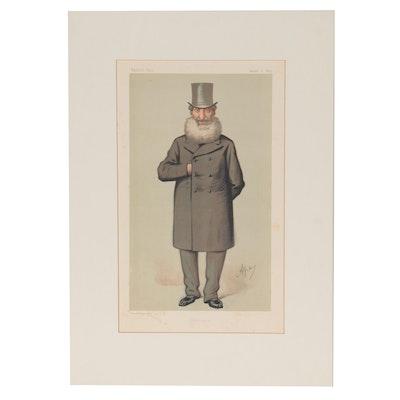 "Ape Chromolithograph ""Mr. Philip Henry Mutz, M.P."" for ""Vanity Fair,"" 1875"