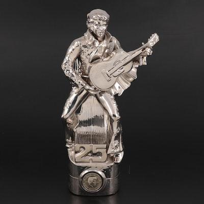 Elvis Presley Silver Anniversary McCormick Bourbon Musical Decanter