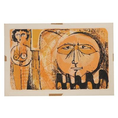 "Douglas H. Teller Lithograph ""Circus People,"" 1961"