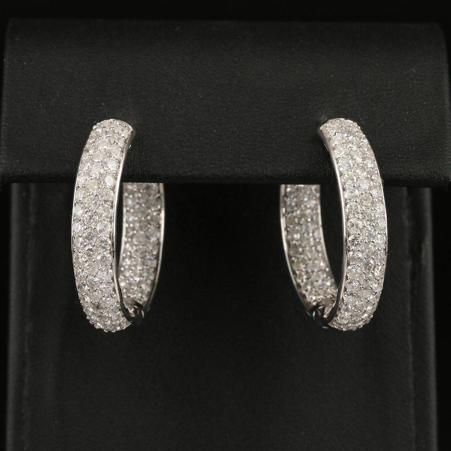 14K 5.29 CTW Diamond Inside-Out Hoop Earrings