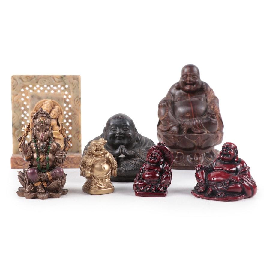 Buddhist and Hindu Inspired Figurines