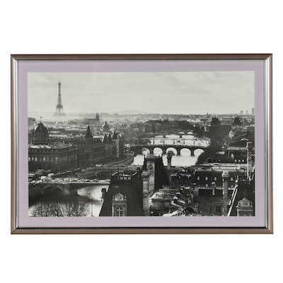 Offset Lithograph of Paris, France, Late 20th Century