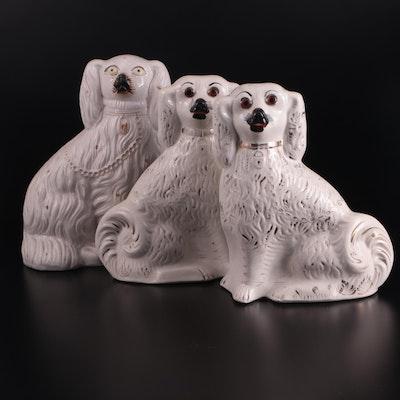 Staffordshire Ceramic Spaniel Figurines, 20th Century