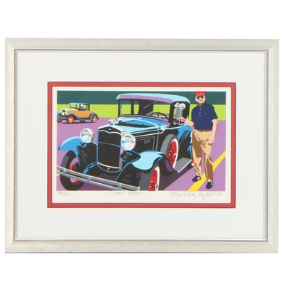 "Joseph Craig English Serigraph ""Dad's Ford,"" 1988"