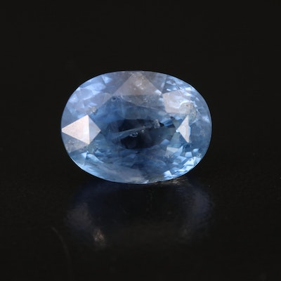 Loose 13.54 CT Unheated Sapphire with GIA Report