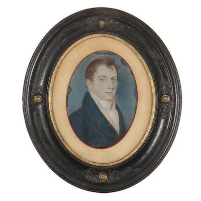 Portrait Pastel Drawing of Gentleman