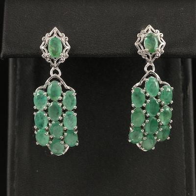 Sterling Emerald Earrings