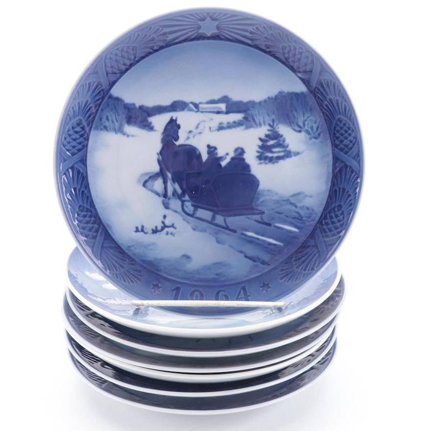 Royal Copenhagen Porcelain Christmas Collector Plates, 1961–1969
